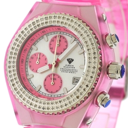 Aqua Master Sport 1.00 ct Diamond Womens Pink Watch