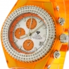 Womens Diamond Orange Watch Aqua Master Sport Plastic 1.00 ct