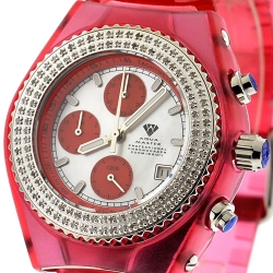 Aqua Master Sport 1.00 ct Diamond Womens Red Watch