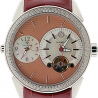 Aqua Master Two Time Zone 1.75 ct Diamond Mens Brown Watch