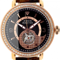 Aqua Master Automatic 2.25 ct Diamond Mens Rose Watch