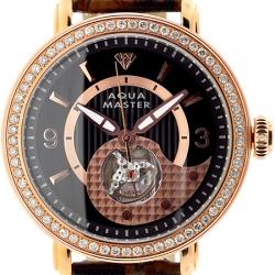 Aqua Master Automatic 2.25 ct Diamond Mens Rose Watch