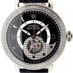 Aqua Master Automatic 2.25 ct Diamond Mens Silver Watch