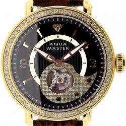 Aqua Master Automatic 2.25 ct Diamond Mens Gold Watch