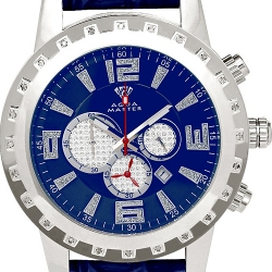 Aqua Master Jumbo 0.24 ct Diamond Mens Blue Dial Watch