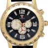 Aqua Master Jumbo 0.24 ct Diamond Mens Black Dial Watch