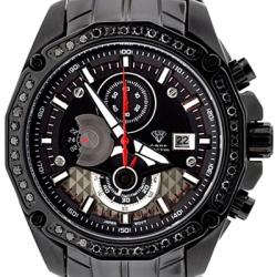 Aqua Master 1.50 ct Black Diamond Mens Steel Watch