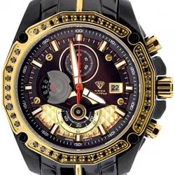 Aqua Master 1.50 ct Black Diamond Mens Two Color Watch
