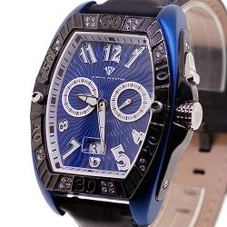 Aqua Master Black PVD 0.50 ct Diamond Mens Blue Watch