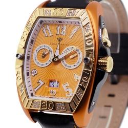 Aqua Master Aluminium 0.50 ct Diamond Mens Orange Watch