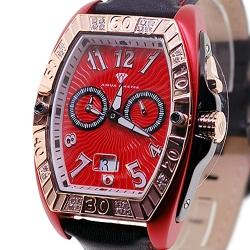 Aqua Master Aluminium 0.50 ct Diamond Mens Red Watch