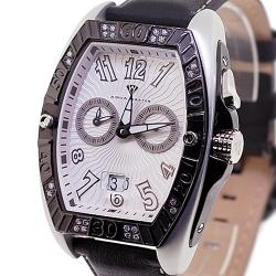 Aqua Master Aluminium 0.50 ct Diamond Mens Silver Watch