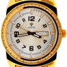 Aqua Master Day Date 0.12 ct Diamond Mens Yellow Watch
