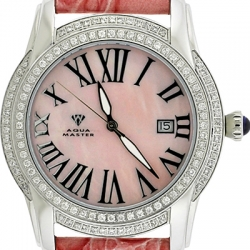 Aqua Master Slim 1.85 ct Diamond Womens Pink Watch