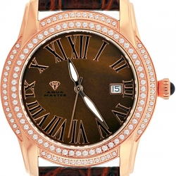 Aqua Master Slim 1.85 ct Diamond Mens Rose Gold Watch