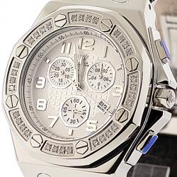 Aqua Master Royal 1.50 ct Diamond Mens Steel Watch