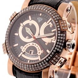 Aqua Master Automatic 3.50 ct Diamond Mens Rose Gold Watch