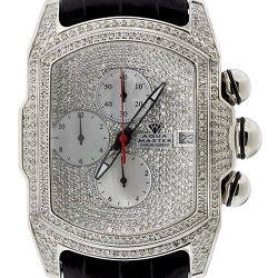 Aqua Master Bubble 7.00 ct Diamond Mens Silver Watch