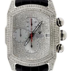 Aqua Master Bubble 7.00 ct Diamond Mens Silver Watch