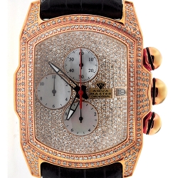Mens Iced Out Diamond Rose Watch Aqua Master Bubble 7.00 ct