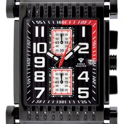 Aqua Master Bicycle Diamond Mens Black Steel Watch