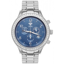Aqua Master Rio 2.45 ct Diamond Blue Dial Steel Bracelet Mens Watch