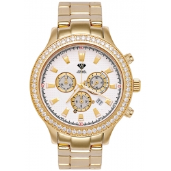 Aqua Master Rio 2.45 ct Diamond Mens Yellow Gold Watch