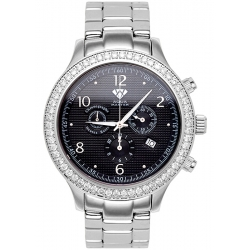 Aqua Master Rio 2.45 ct Diamond Mens Black Dial Watch