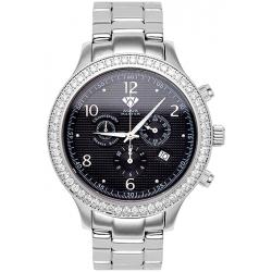 Aqua Master Rio 2.45 ct Diamond Mens Black Dial Watch