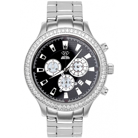 Aqua Master Rio 2.45 ct Diamond Mens Steel Watch