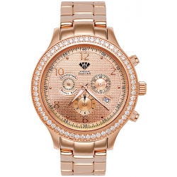 Aqua Master Rio 2.45 ct Diamond Mens Rose Gold Watch
