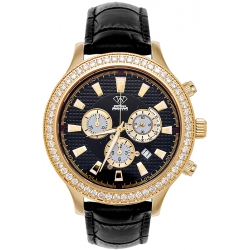 Aqua Master Rio 2.45 ct Diamond Mens Leather Yellow Watch
