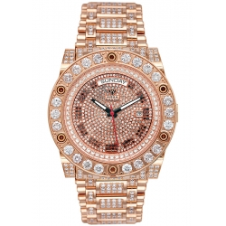 Aqua Master Magnum 17.00 ct Iced Out Diamond Mens Rose Watch