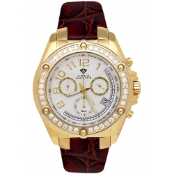 Aqua Master Solly 1.70 ct Diamond Mens Yellow Gold Watch