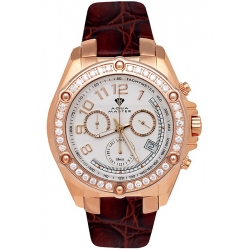 Aqua Master Solly 1.70 ct Diamond Mens Rose Gold Watch