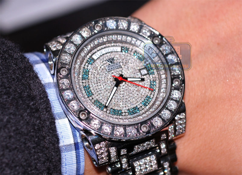 diamond watch mens lebanon usa mop front elmazad item men luxurman ct watches carats authentic