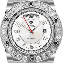 Aqua Master Magnum 7.65 ct Diamond Mens White Dial Watch