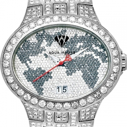 Aqua Master Black World 6.50 ct Diamond Mens Watch