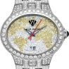 Aqua Master Yellow World 6.50 ct Diamond Mens Watch