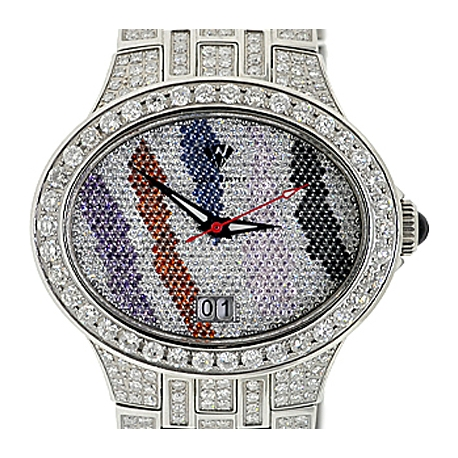 Aqua Master Colored World 6.50 ct Diamond Mens Watch