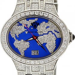 Aqua Master Blue World 6.00 ct Diamond Mens Watch