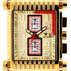 Aqua Master Bicycle Diamond Mens Yellow Gold Watch