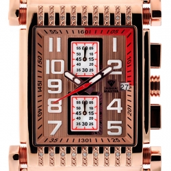 Aqua Master Bicycle Diamond Mens Rose Gold Watch