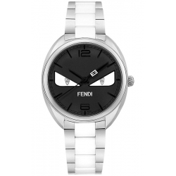 1164260f19e7 F216031004D1 Fendi Momento Bugs Eye Ceramic Womens Black Watch