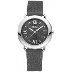 Fendi Selleria Gray Leather Womens Watch F8030360A6