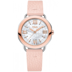 Fendi Selleria Rose Leather Womens Watch F8032345A7