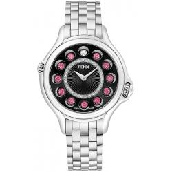 Fendi Crazy Carats 38 mm Black Dial Womens Watch F107031000D2T05