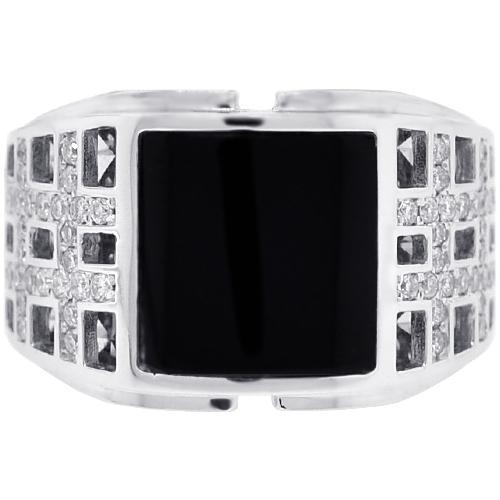 Diamond Square yx Openwork Ring 18K White Gold 50 ct