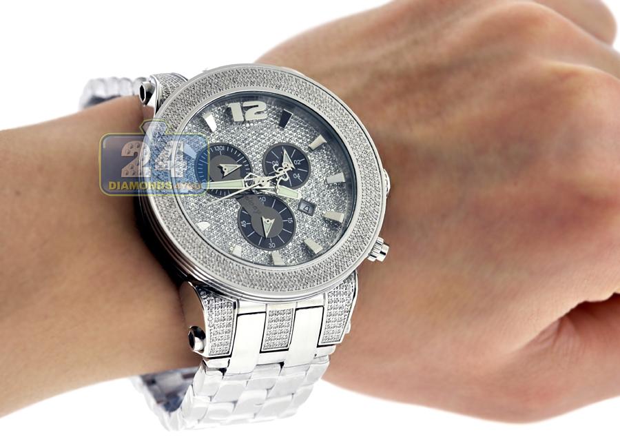 Mens Diamond Steel Watch Joe Rodeo Broadway JRBR17 5.00 Carats ce0fafad8