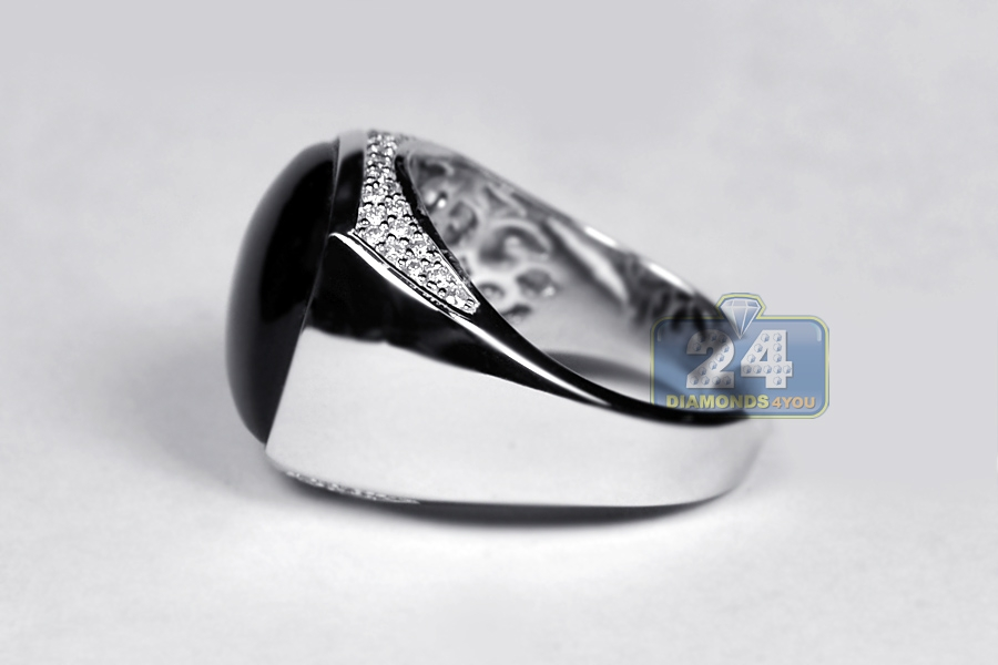 art engagement cabochon diamond sapphire deco rings jewelry ring